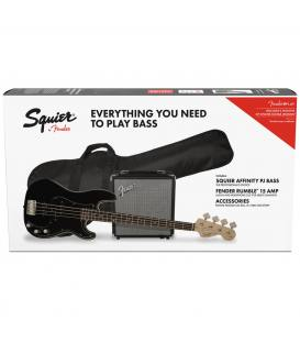 Fender Squier Pack Affinity PJ Bass IL BLK + Rumble 15
