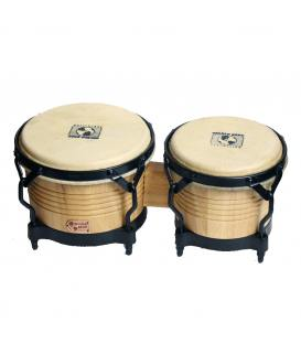 World Beat WB-2045 Bongos Madera Natural