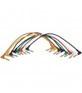 On Stage PC18-17QTR-R Cable Pedales J/J 45cm Pack 8