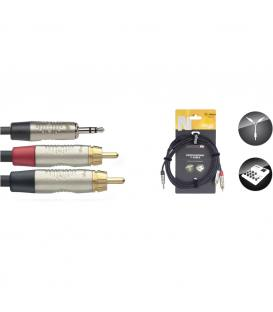 Stagg Y-Cable Jack Mini Stereo/2 RCA - 1,5 m