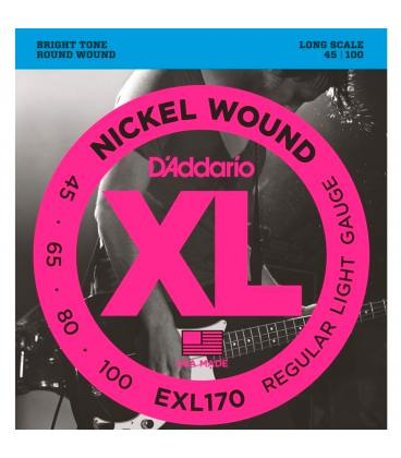D'addario EXL170 (45-100) Nickel Wound