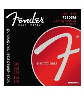 Fender 7250-5M Nickel Plated Steel (45-125) 5 Cuerdas