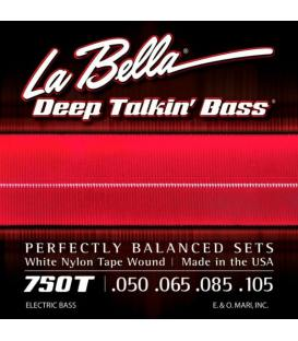 La Bella 750T DTB (050-105) White Nylon Wound