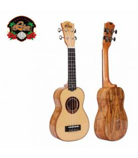 Leho Spalted Maple Soprano LHUS-CMF con funda