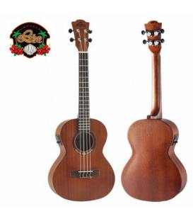 Leho Caoba Tenor LHUT-MM-E Electrificado con funda