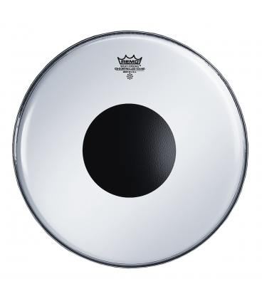 """Parche Remo Controlled Sound Smooth White Black Dot 14"""" CS-0214-10"""