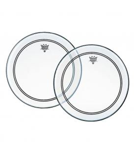 """Remo Powerstroke 3 Clear Dot Top 14"""" P3-0314-C2"""