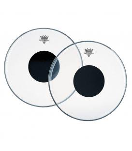 """Remo Controlled Sound Clear Black Dot 16"""" CS-0316-10"""