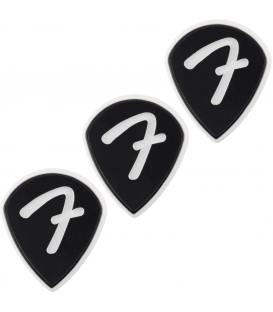 Fender 551 F Grip Black Pack 3 Púas