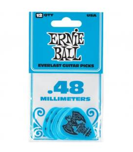 Ernie Ball 9181 Everlast Azul 0,48mm (Pack 12)