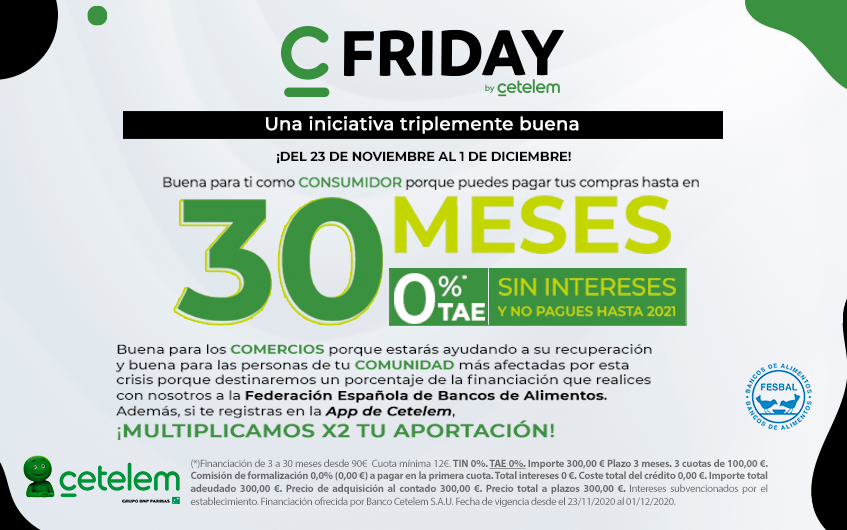 Financia tus compras de Black Friday con Cetelem